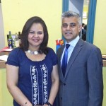 With Sadiq Khan MP in Perivale for Ealing North Fundraiser
