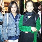 With mother of late Pop singer Nazia Hassan, Mrs Munisa Basir