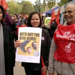 At TUC protest against ConDem with Cllr Ram Lakha of Coventry